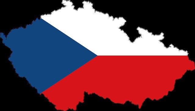 Česká republika vlajka na mapě