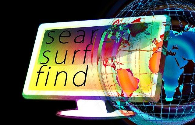 procházení a vyhledávání na internetu zeměkoule